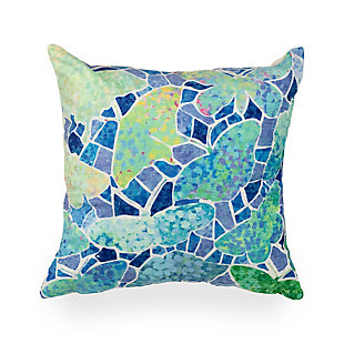 """Cirrus Vibrant Wings Indoor/Outdoor Pillow Blue 18"""" Square, , large"""