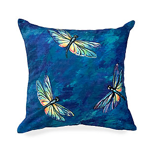 """Cirrus Wings Indoor/Outdoor Pillow Midnight 18"""" Square, Navy, large"""