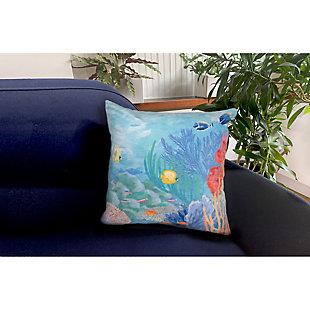 "Cirrus Oceania Indoor/Outdoor Pillow Ocean 18"" Square, , rollover"