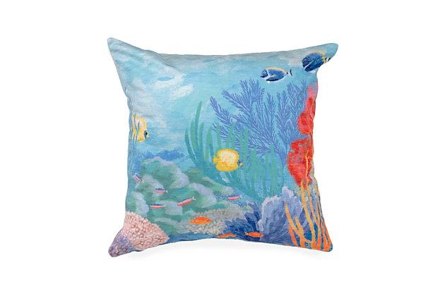 """Cirrus Oceania Indoor/Outdoor Pillow Ocean 18"""" Square, , large"""