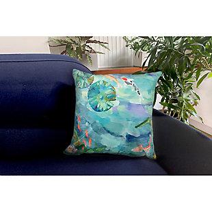 "Cirrus Escape Indoor/Outdoor Pillow Seafoam 18"" Square, , rollover"