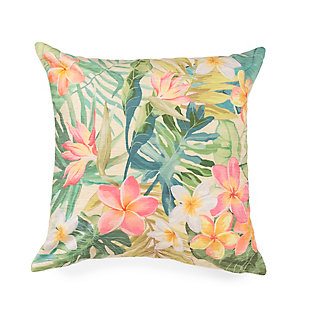 "Cirrus Tropical Bouquet Indoor/Outdoor Pillow Pastel 18"" Square, , large"