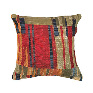 "Gorham Abstract Indoor/Outdoor Pillow Multi 18"" Square, , large"