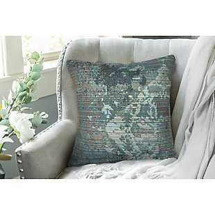 "Gorham Medallion Indoor/Outdoor Pillow Blue 18"" Square, , rollover"