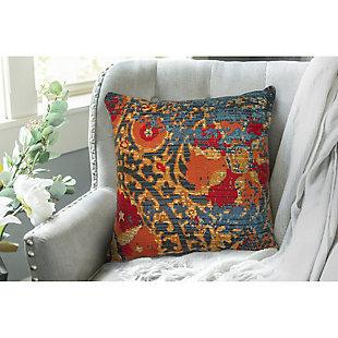 """Gorham Dreamweaver Indoor/Outdoor Pillow Blue 18"""" Square, , rollover"""