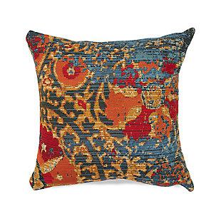 """Gorham Dreamweaver Indoor/Outdoor Pillow Blue 18"""" Square, , large"""