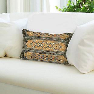 "Gorham Decorative Stripe Indoor/Outdoor Pillow Green 12""X18"", , rollover"