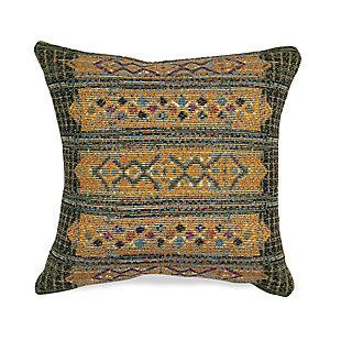 "Gorham Decorative Stripe Indoor/Outdoor Pillow Green 12""X18"", , large"