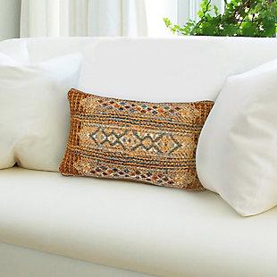 "Gorham Decorative Stripe Indoor/Outdoor Pillow Gold 12""X18"", , rollover"