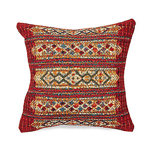 "Gorham Decorative Stripe Indoor/Outdoor Pillow Red 12""X18"", , large"