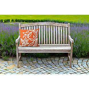 "Spectrum I Leaves Indoor/Outdoor Pillow Orange 20"" Square, , rollover"