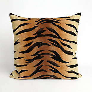 "Spectrum I Big Cat Indoor/Outdoor Pillow Brown 20"" Square, , large"