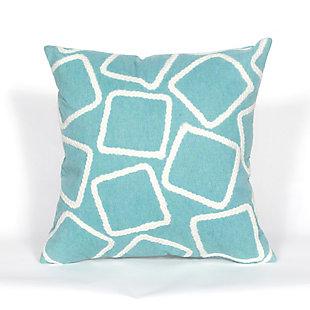 """Spectrum I Ice Cubes Indoor/Outdoor Pillow Aqua 20"""" Square, , large"""