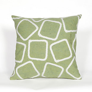 """Spectrum I Ice Cubes Indoor/Outdoor Pillow Lime 20"""" Square, , large"""