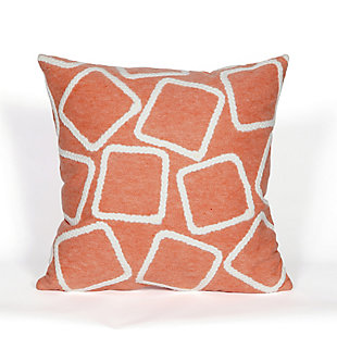 "Spectrum I Ice Cubes Indoor/Outdoor Pillow Coral 20"" Square, , large"