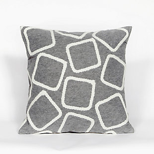 "Spectrum I Ice Cubes Indoor/Outdoor Pillow Silver 20"" Square, , large"