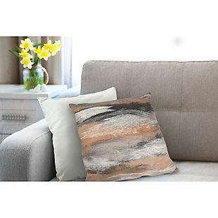 "Spectrum I Dunes Indoor/Outdoor Pillow Taupe 20"" Square, , rollover"