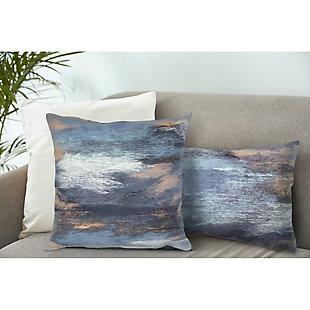 "Spectrum I Dunes Indoor/Outdoor Pillow Denim 20"" Square, , rollover"