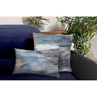 """Spectrum I Dunes Indoor/Outdoor Pillow Denim 20"""" Square, , large"""