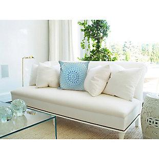 """Spectrum II Stitched Sphere Indoor/Outdoor Pillow Aqua 20"""" Square, Blue, large"""