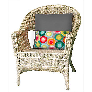 "Spectrum II Polka Dots Indoor/Outdoor Pillow Multi 12""X20"", , rollover"