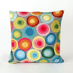 "Spectrum II Polka Dots Indoor/Outdoor Pillow Multi 20"" Square, , large"