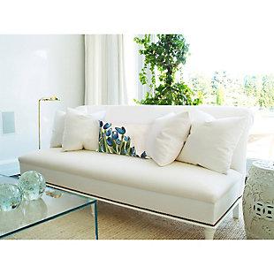 """Spectrum II Spring Flowers Indoor/Outdoor Pillow Blue 12""""X20"""", , rollover"""