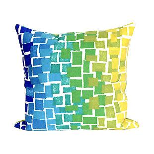 """Spectrum II Blocks Indoor/Outdoor Pillow Cool 12""""X20"""", Blue, large"""