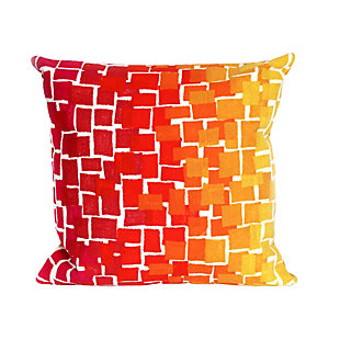 "Spectrum II Blocks Indoor/Outdoor Pillow Warm 20"" Square, , large"