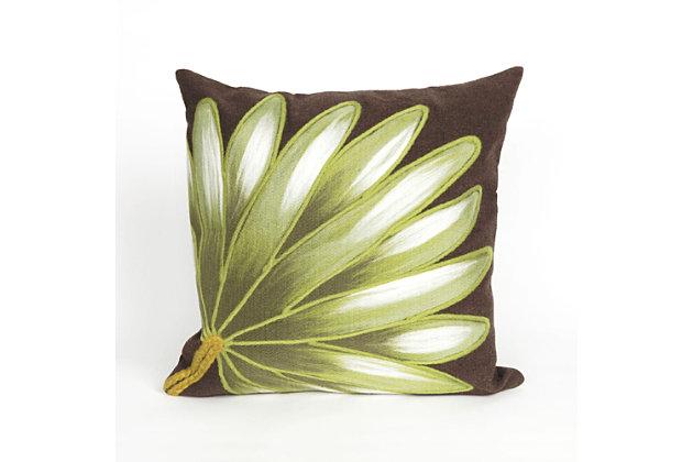 """Spectrum II Frond Indoor/Outdoor Pillow Chocolate 12""""X20"""", , large"""