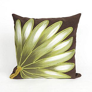 "Spectrum II Frond Indoor/Outdoor Pillow Chocolate 20"" Square, , large"