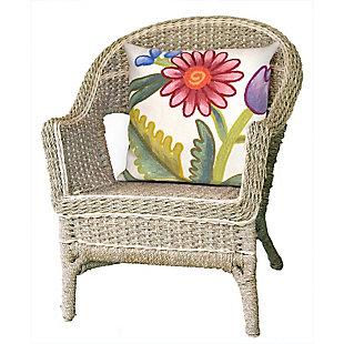"Spectrum III Wild Bouquet Indoor/Outdoor Pillow Multi 20"" Square, , rollover"
