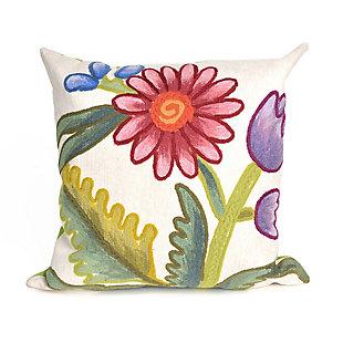 "Spectrum III Wild Bouquet Indoor/Outdoor Pillow Multi 20"" Square, , large"