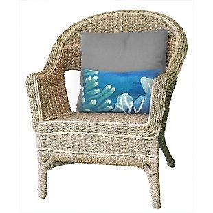 """Spectrum III Sea Garden Indoor/Outdoor Pillow Blue 12""""X20"""", , rollover"""