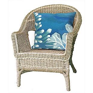 """Spectrum III Sea Garden Indoor/Outdoor Pillow Blue 20"""" Square, , rollover"""