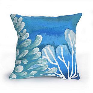 """Spectrum III Sea Garden Indoor/Outdoor Pillow Blue 20"""" Square, , large"""