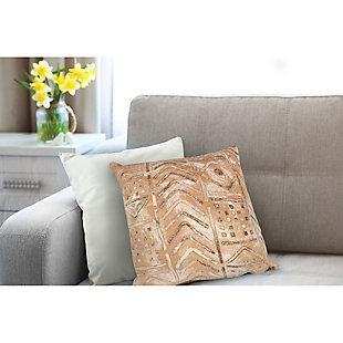 """Spectrum III Bali Indoor/Outdoor Pillow Biscotti 20"""" Square, Beige, rollover"""