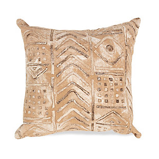 """Spectrum III Bali Indoor/Outdoor Pillow Biscotti 20"""" Square, Beige, large"""