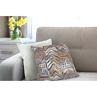 """Spectrum III Bali Indoor/Outdoor Pillow Indigo 20"""" Square, , rollover"""