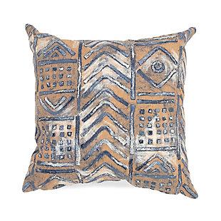 "Spectrum III Bali Indoor/Outdoor Pillow Indigo 20"" Square, , large"