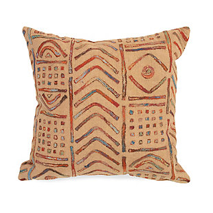 "Spectrum III Bali Indoor/Outdoor Pillow Multi 20"" Square, , large"