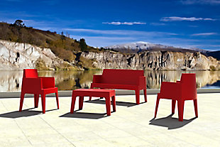 Siesta Outdoor Box Resin Center Table, Red, large
