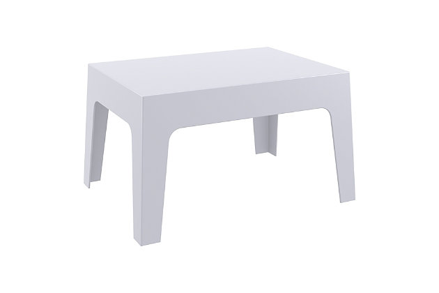 Siesta Outdoor Box Resin Center Table, Gray, large