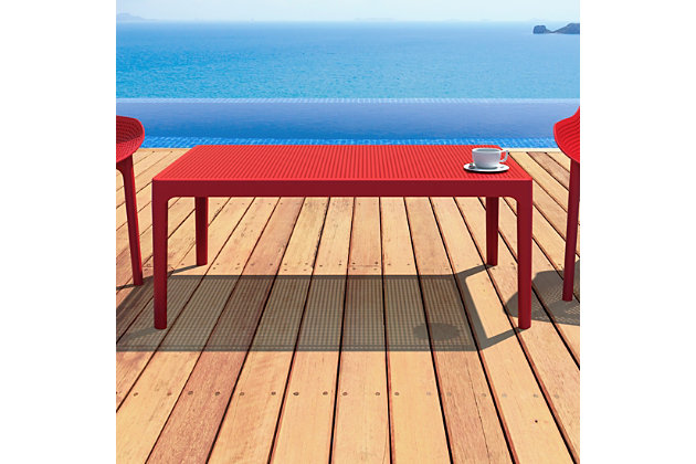 """Siesta 39"""" Outdoor Sky Lounge Table, Red, large"""