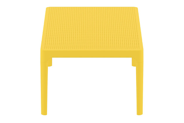 """Siesta 39"""" Outdoor Sky Lounge Table, Yellow, large"""