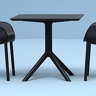 "Siesta 31"" Outdoor Sky Square Table, Black, rollover"