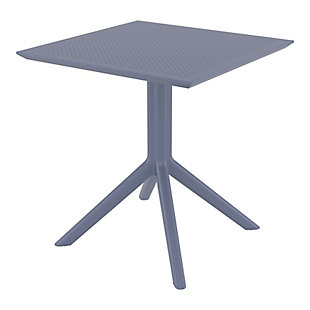 "Siesta 27"" Outdoor Sky Square Table, Dark Gray, large"