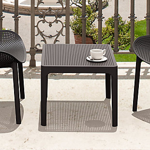 "Siesta 24"" Outdoor Sky Side Table, Black, rollover"