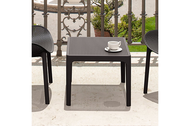 "Siesta 24"" Outdoor Sky Side Table, Black, large"