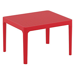 "Siesta 24"" Outdoor Sky Side Table, Red, large"
